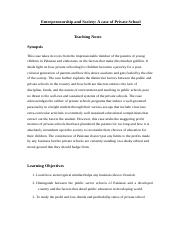 Teaching Notes Entrepreneurship and Society (1).docx