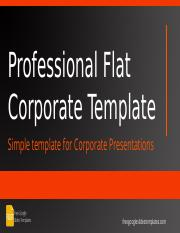 FGST0006 - Professional Flat Corporate Template