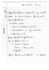 Answers to 2B Linear Algebra Degree Exam 2012 (Solutions)
