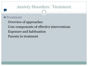 13. Anxiety Disorders Part III