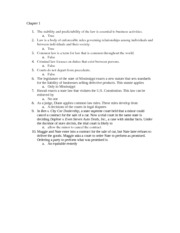 Business Law Chapter 1 Quiz practice & answers