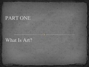 Lesson 02 - What is Art