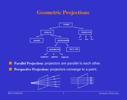 Lecture Notes on Geometric Projections
