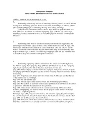 Inerpretive Template for Two Noble Kinsmen(1)