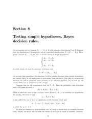 Math 18.443 Bayes Rules Notes