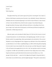 White fang essay