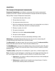 Comm107- chapter 6 outline