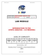 LAB 1 FEA (STATIC ANALYSIS).doc