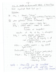 EECE 453 Health and Environmental Effects of Fossil Fuels Notes
