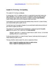 food additives essay ieltsbuddy com online ielts advice 3 pages task 2 sample essay spending on the arts