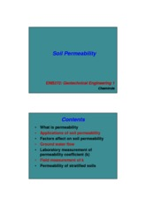 Week 4 - Lecture - Permeability in soils - 2 slides per page -colour