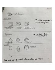 Geometry Types of Solids Notes
