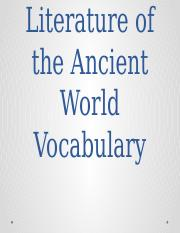 Literature of the Ancient World Vocabulary