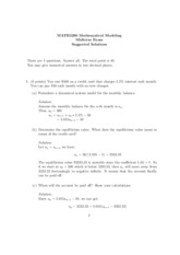 MATH3290 Midterm Solutions