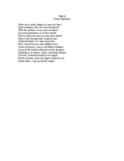 creative writing-sonnet