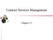 Chapter 15 Contract Management