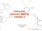 Ch. 6  Consumer Buying Student Version
