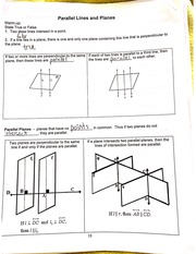 parallel lines and planes notes