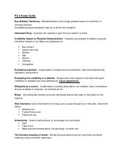 Critical Thinking PG3 Study  Guide