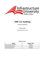 DBF 212 Auditing group asssigment aaaaaa.docx