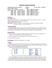 Lecture Syllabus CHEM 185 F2012
