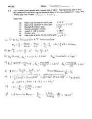 ME 252 Homework  Solutions #3