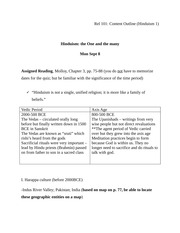 Content Outline Hinduism 1-3