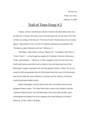 SocStud-Trail of Tears Essay2