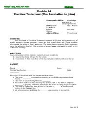 Module 14 The New Testament (The Revelation to John).doc