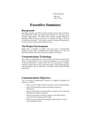 Unit 4 Assignment 2 Communication Plan executive Summary A