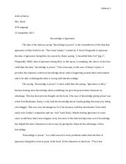 Argumentative Essay: THE GREAT GATSBY - Alok Acharya