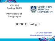 TOPIC C - PROLOG II