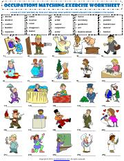 occupations vocabulary esl crossword puzzle worksheets for kids.pdf ...