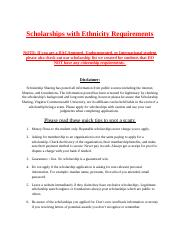Scholarships with Ethnicity or Race requirements