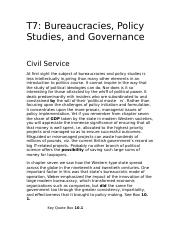 7 Bureaucracies, Policy Studies, and Governance.doc
