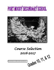 Gr 10-11-12 Course Selection booklet  2016-2017 February 2016