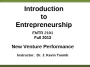 ENTR_2101_New_Venture_Performance_Fall_2013