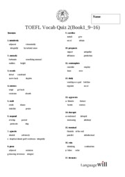 Base TOEFL Test 2 #(Book1_ 9~16)