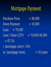 RE 8 - Mortgage Payment _ Investment.ppt