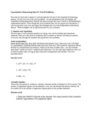 ISEE Quantitative Reasoning - Word Problems - Test Prep