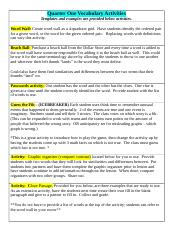 Math_6.14_Sixth Grade Vocabulary Activities Quarter One.doc