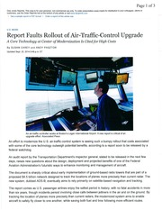FAA and new Air Traffic System