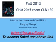 Chapter 1 & 2 Study of Change