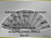 Advanced Accounting ch4