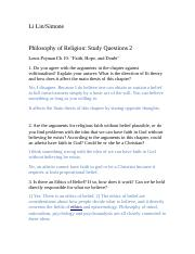 Philosophy answer2