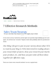7 Effective Research Methods
