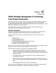 TM583 TERM PROJECT INSTRUCTIONS[1]