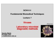 Lecture 7 - Viruses and laboratory testing for infections