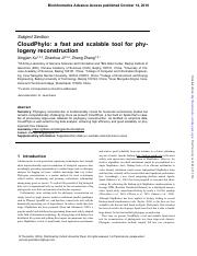 17_CloudPhylo_ a fast and scalable tool for phy- logeny reconstruction.pdf