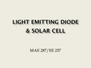 Nano Science (Lec 11 LED & Solar Cell)